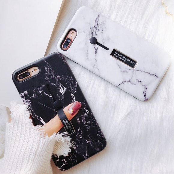 timeless design c54f6 c4d89 iPhone 7/8/Plus/X/XS/Max/XR Marble Loop Ring Case Boutique